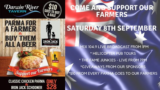Darwin River, ออสเตรเลีย: Come and check out our Parma for a Farmer charity day. Saturday 8th of September!