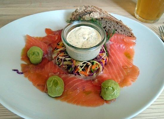 Jaegerspris, Denmark: Smoked salmon - excellent!