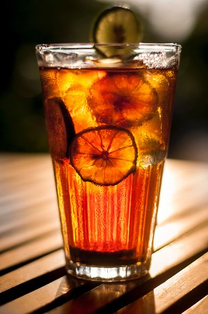Barefoot Garden Cafe: Our iced Ceylon Tea - always good when things get too hot!