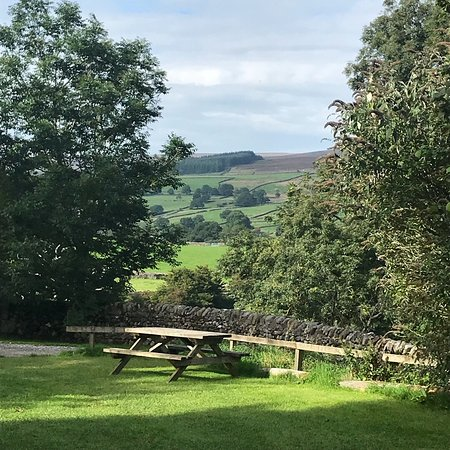 Barden, UK: View from our tent at the bottom of the hill