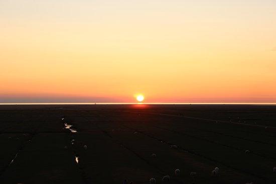Westerhever, Γερμανία: Sonnenuntergang
