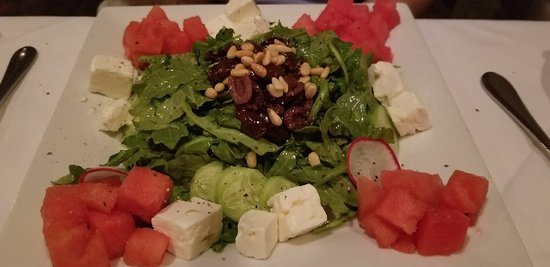 208 Talbot: Watermelon salad was huge, delicious and made my husband's day.  Big enough to share.