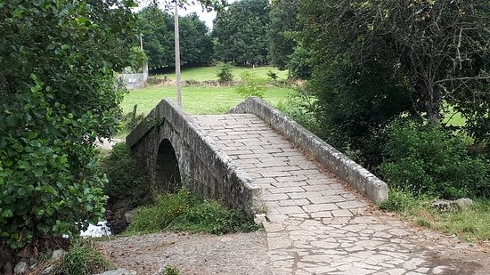 7-Day Camino Frances Pilgrimage Tour from Sarria to Santiago: A medieval bridge on the way to the village of Furelos