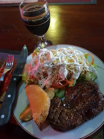 The Clubhouse - Steak Grill & Bar: Steak Meal & a Glass of Wine