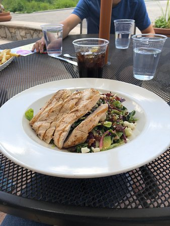 Solitude, UT: a whole chicken breast on my salad