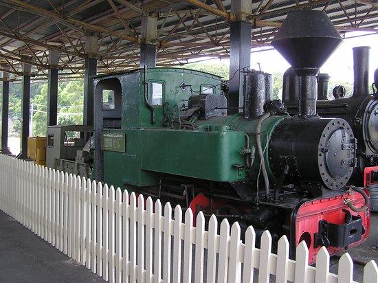 Zeehan, Australia: Engine in yard of centre