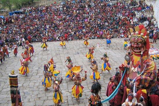 Thimphu District, Bhutan: Thimphu Tshechu Mask Dance