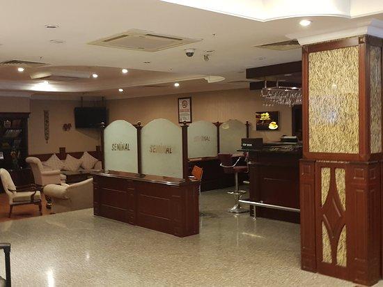 Seminal Hotel: hotel lobby & the bar