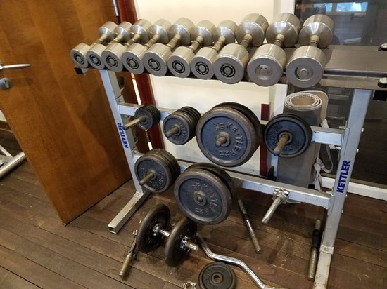Less than a basic gym. equipment is old and worn out. and the room