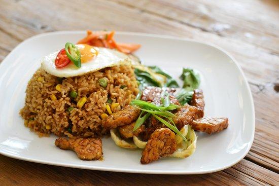 Garuda Wok Nasi Goreng Tempe Fried Jasmine Rice With Vegetable Mix And