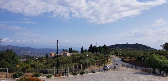 Davoli, Italie : Vista panoramica dal Santuario