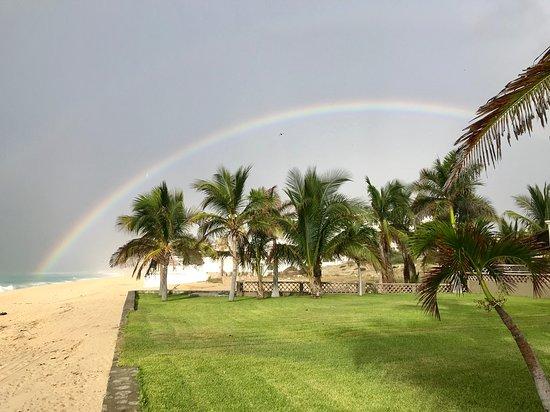 Rainbow after brief rainshower