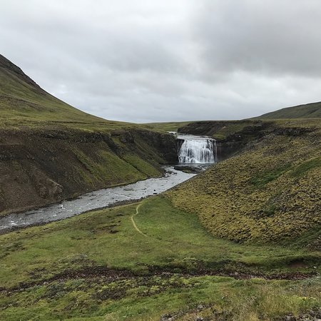 Thingvellir, Iceland: No crowds at these falls near the Golden Circle