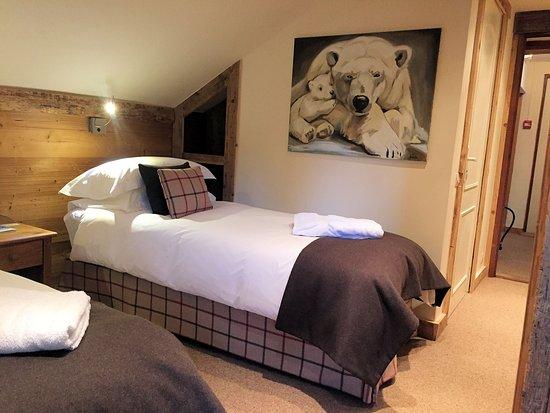 Les Cimes: Twin bedroom