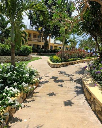 Westender Inn: Walkway to rooms and seaside