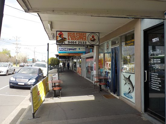 Thomastown, Australia: Footpath seating