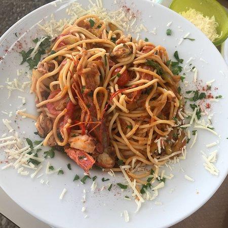 Flogita, Griekenland: Pasta seafood 10,5€
