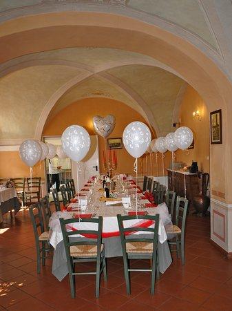 Rocca de Baldi, Ý: Tavolo apparecchiato per il pranzo