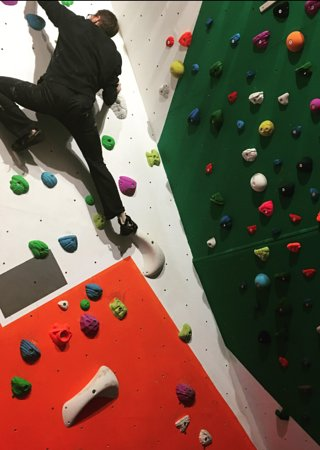 The Adventure Hub Climbing Wall