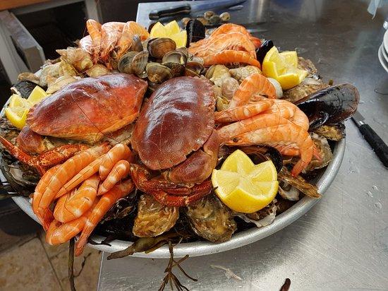 Restaurant Bosco: Beau plateau de fruit de mer