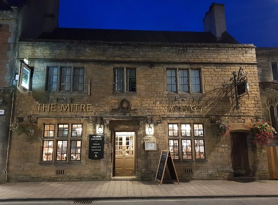 The Mitre in the evening