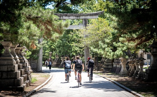 Hidden Kyoto E-Biking: On our route to a shrine