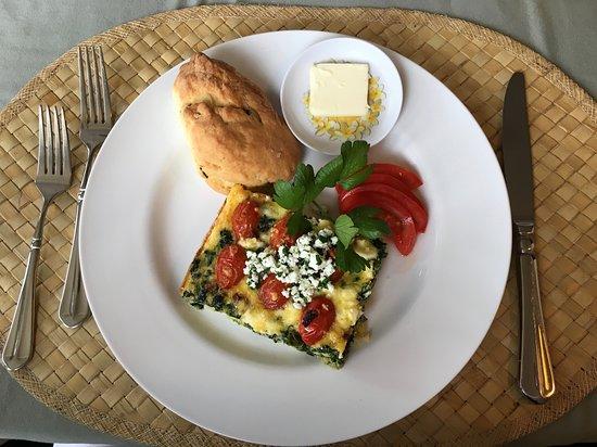 Old Wailuku Inn at Ulupono : Breakfast quiche