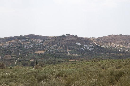 view on Kamilari from Mother Olive tree hill