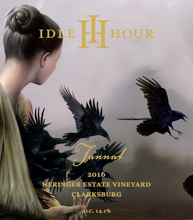 Idle Hour Tasting Room: Tannat label, art by Tim Cantor