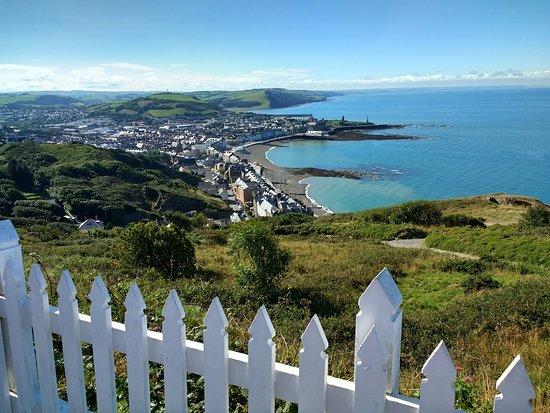 Aberystwyth Cliff Railway: Sunny View of Aberystwyth.