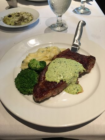 Gambier, OH: Steak-you should request sauce on the side.