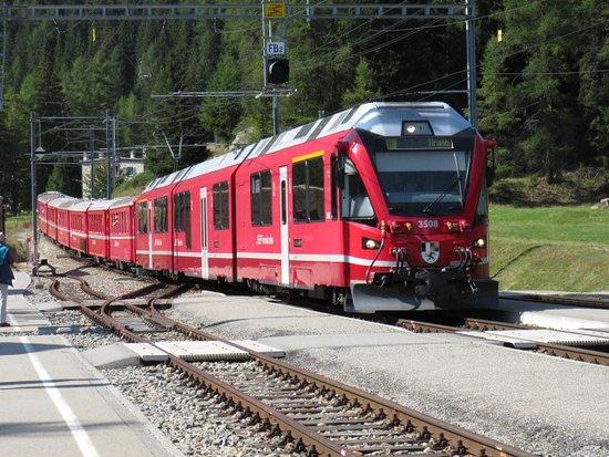 Cavaglia Glacier Garden: Il Glacier Express con il quale si rriva lla stazione di Cavaglia
