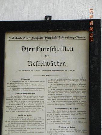 Hattersheim, Alemania: Dienstvorschrift für Kesselwärter