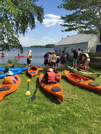Center Harbor, Nueva Hampshire: Paddle from our landing on Lake Winnipesaukee