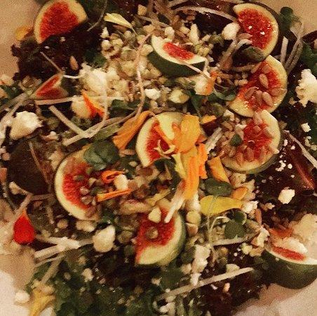 Fig salad is yummy