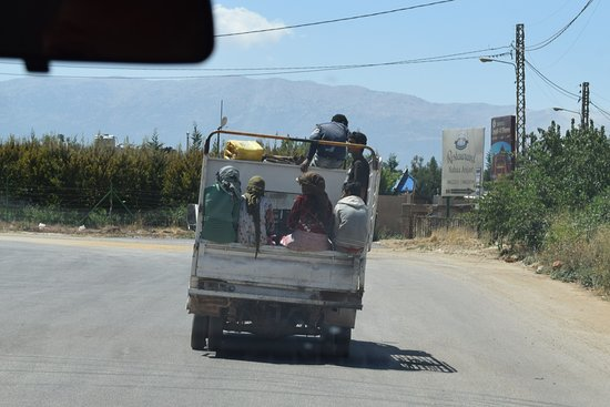 Anjar, Lebanon: Locals going about their business, Bekaa Valley