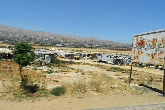 Anjar, Lebanon: Syrian refugee tents, Bekaa Valley