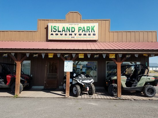 Island Park, ID: The store front with quads and 4 wheelers for rent or to purchase