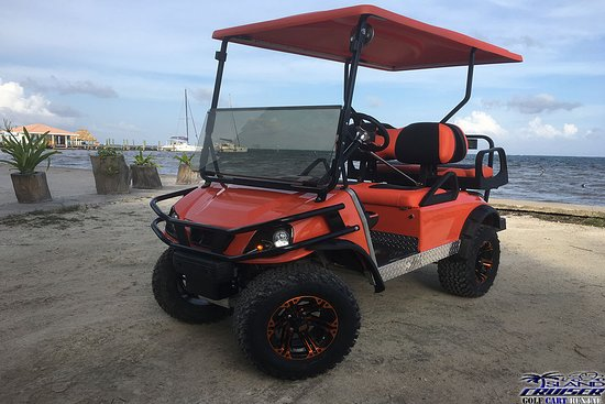 Ambergris Caye, Belize: Brand new golf carts are available now at Island Cruiser Golf Cart Rental