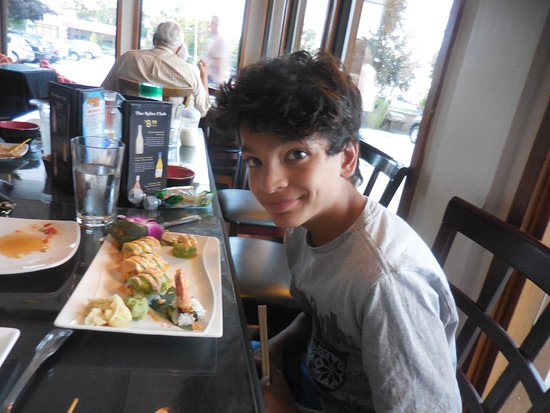 The Spice Club: Our Grand son enjoying his Lobster Sushi
