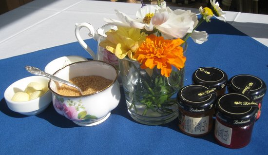 Heritage Park Historical Village: Afternoon Tea on the Veranda (setting of condiments upon our arrival)