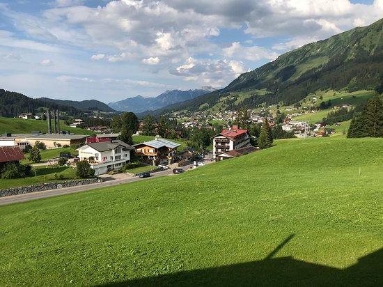Hirschegg, Austria: Blick vom Balkon