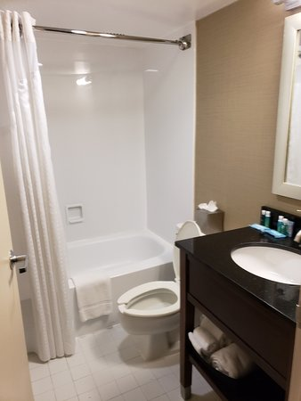 Holiday Inn Express Washington DC SW-Springfield: One of two small bathrooms