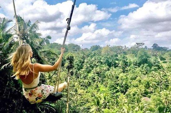 Bali Swing Ubud Temple Batur Volcano...