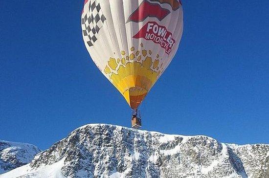 Hot air balloon trip above Bansko
