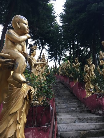 Ten Thousand Buddhas Monastery (Man Fat Sze): The way up.