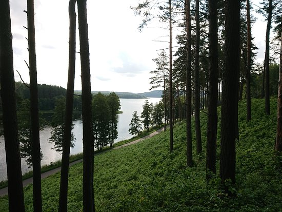 Ignalina, Lituania: Ladakalnis, view over a lake