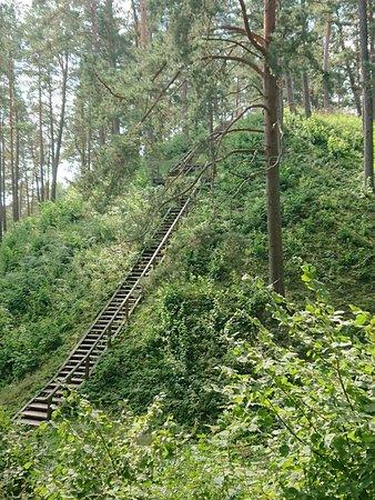 Ignalina, Lituania: Ladakalnis, wooden steps uphill