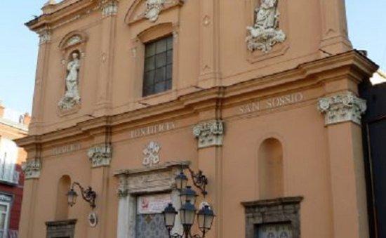 Frattamaggiore, Italie : Facciata della basilica