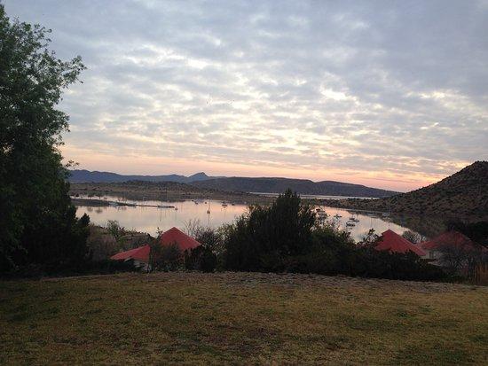 Sunset over Gariep Dam